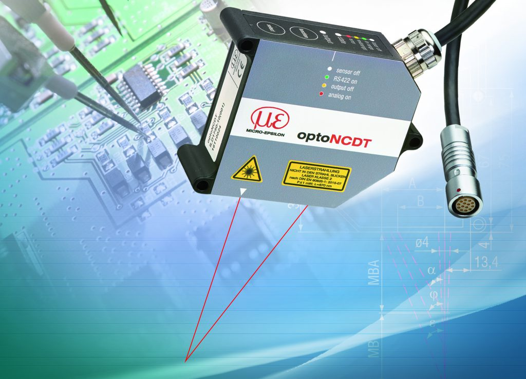 Lasersensor mit Messbereich bis 750mm