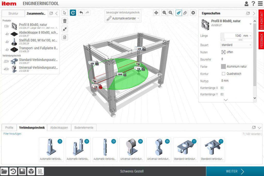 Online-Tool für den Maschinenbau