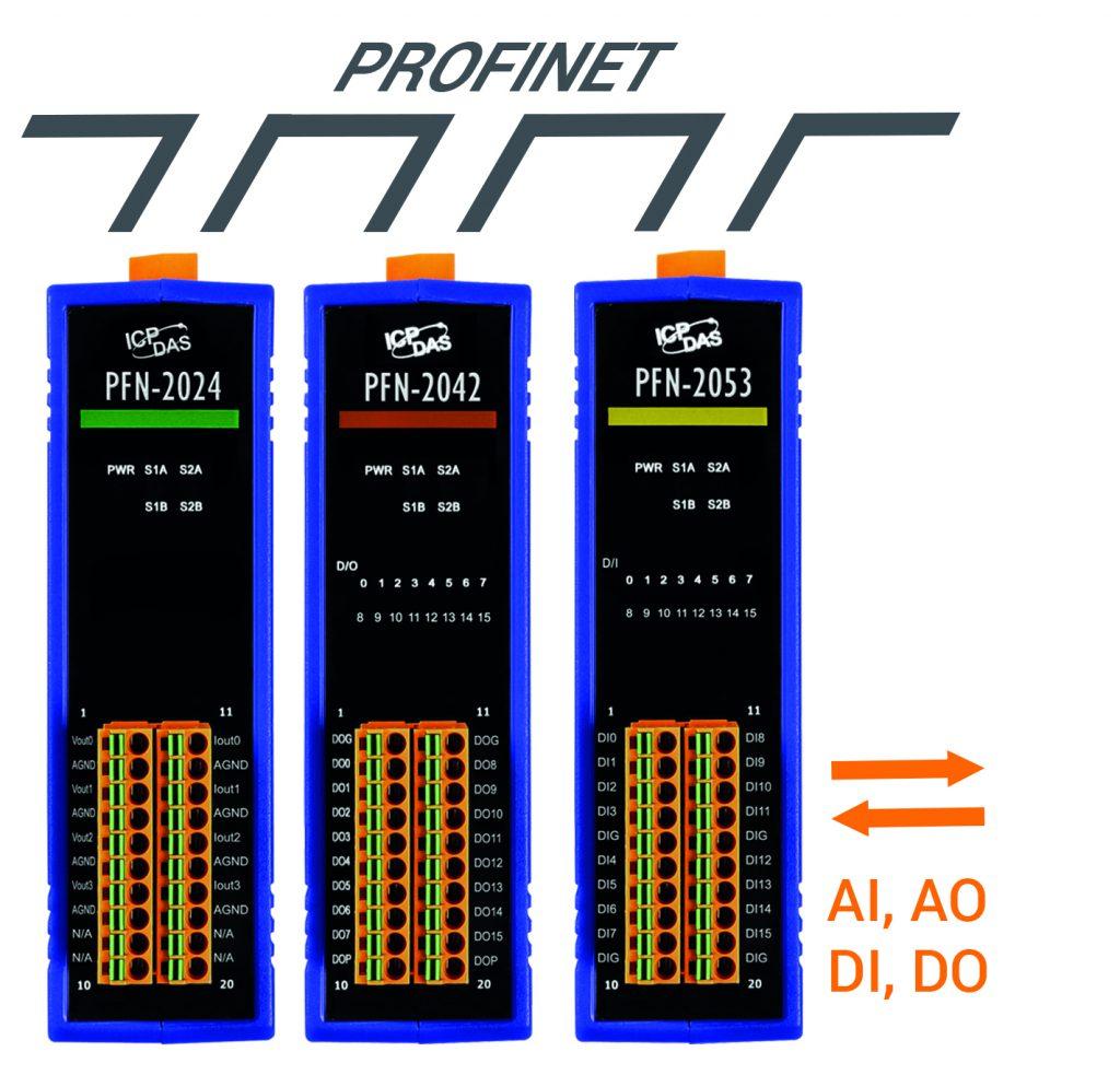 Platzsparende Profinet-I/O-Module