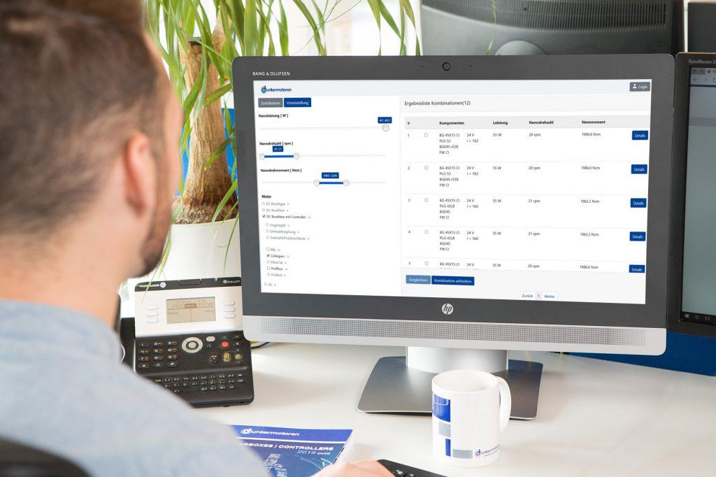 Online-Konfigurator für Antriebslösungen