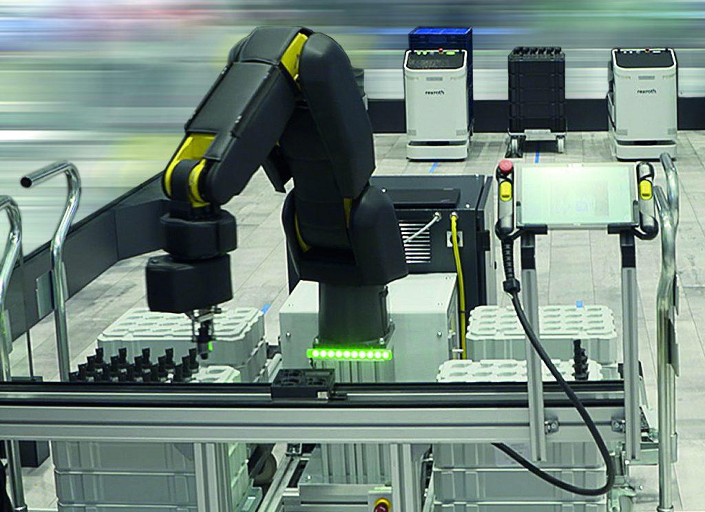 MRK-fähiger Roboter für transparente Logistik