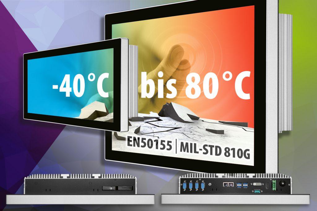 Panel-PCs mit weitem Betriebstemperaturbereich