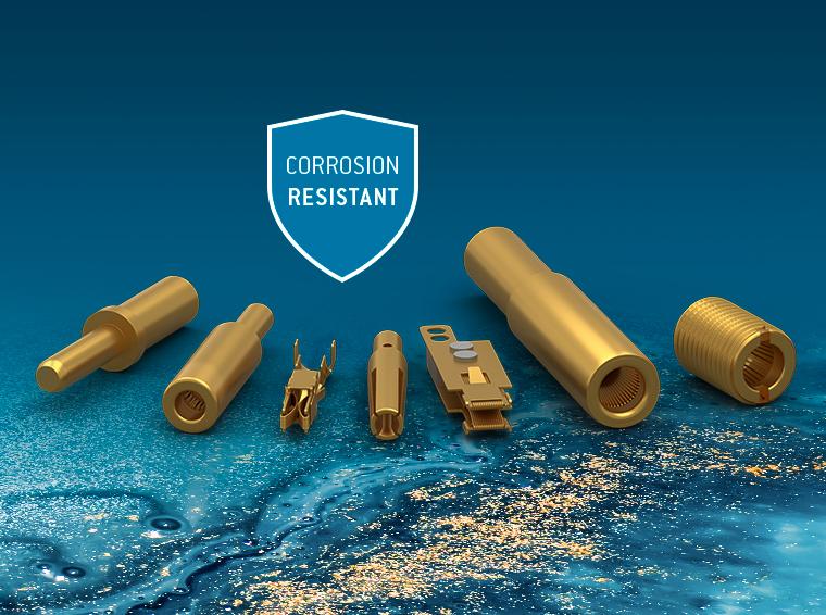 Kontakte mit korrosionsbeständiger Goldoberfläche