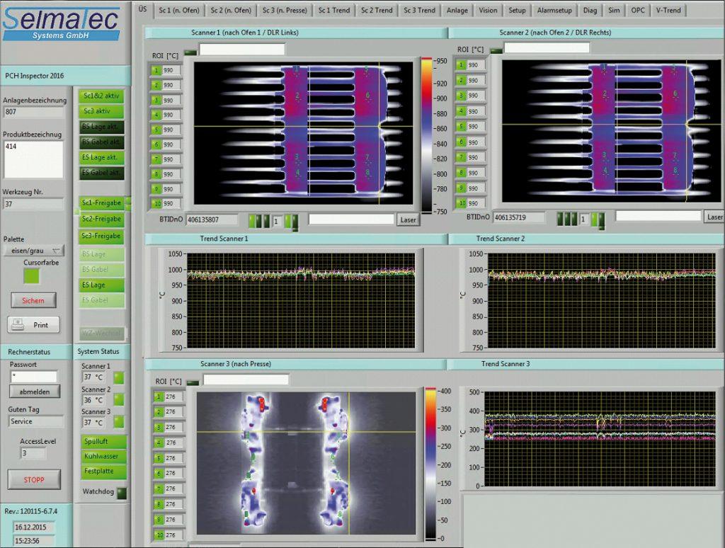Überwachung von Formhärteprozessen mittels Thermographie