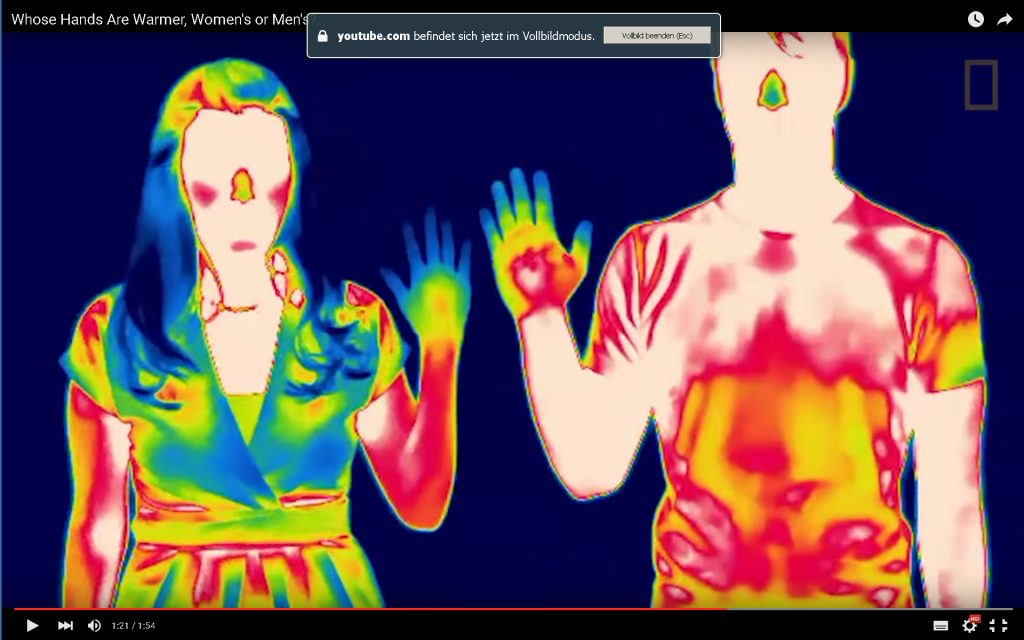 Wer hat die wärmeren Hände: Männer oder Frauen?