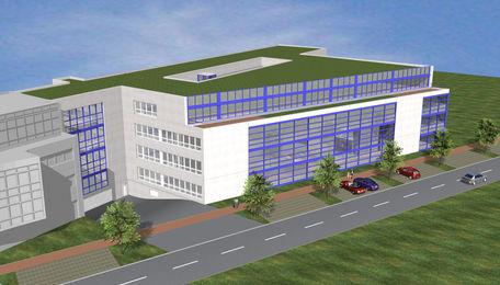 PI legt Grundstein für Technologiezentrum