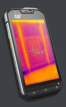 Smartphone mit integrierter Wärmebildkamera