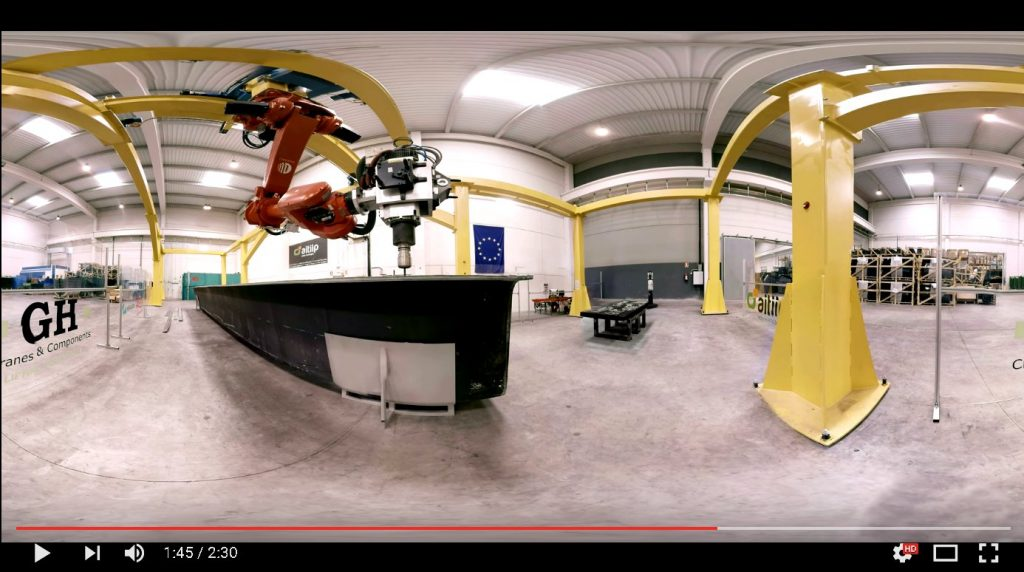 Video: Roboterzelle für 20m Teile
