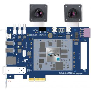 The Arria 10 SOM has two dedicated LVDS BCON image sensor connectors, each having four LVDS lanes plus various control signals and can handle up to 1.200fps for Full HD resolution. (Bild: Dream Chip Technologies GmbH)