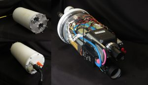 Bild 2: The UTOFIA underwater camera system assembled by SINTEF, Norway, showing housing and internal components. (Bild: Odos Imaging Limited)