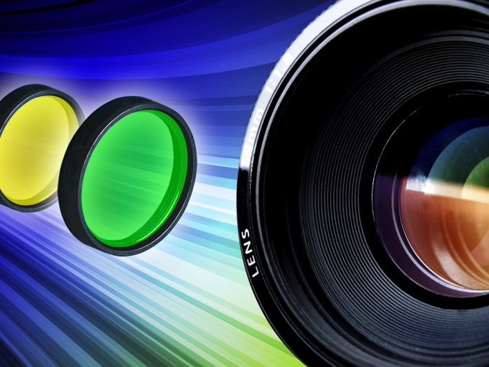 Kamerafilter mit hoher Blockung