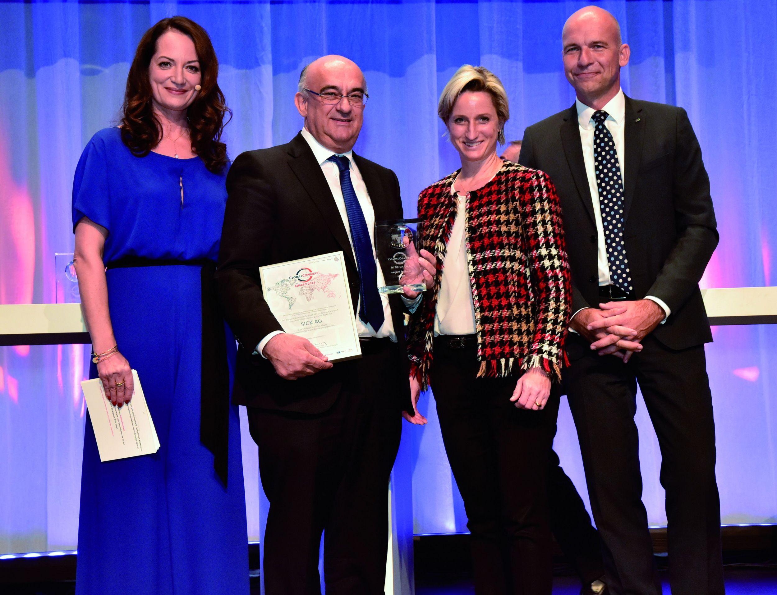 GlobalConnect Award 2016 für Sick