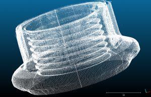 Konstruiert für die Kontrolle von Bohrungen, wird bei BoreInspection eine konfokale Messsonde in das Bohrloch eingeführt, das während der drehenden Abwärtsbewegung simultan vermessen wird. (Bild: Mesure-Systems-3D)