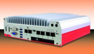 Flacher Box-PC mit sechs GigE-Ports