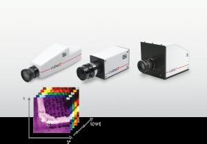 Die hyperspektralen Kameras der Firefleye, Butterfleye und Butterfleye X2 (v.o.n.u.) kamen bisher vorwiegend bei der Agrartechnik zum Einsatz. (Bilder: Cubert GmbH)