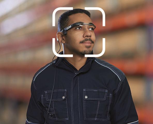 Freihändiges Scannen per Datenbrille