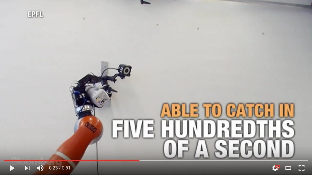 Roboterarm fängt (fast) alles