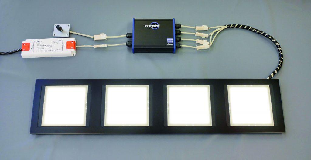 Ein Controller steuert bis zu vier OLEDs gleichzeitig an und kann sie zudem dimmen. (Bild: Hema Electronic GmbH)