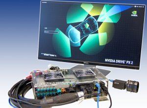 Deep Learning Plattform Nvidia Drive PX2 mit einer Grasshopper3 USB3-Kamera. (Bild: Flir Integrated Imaging Solutions, Inc.)