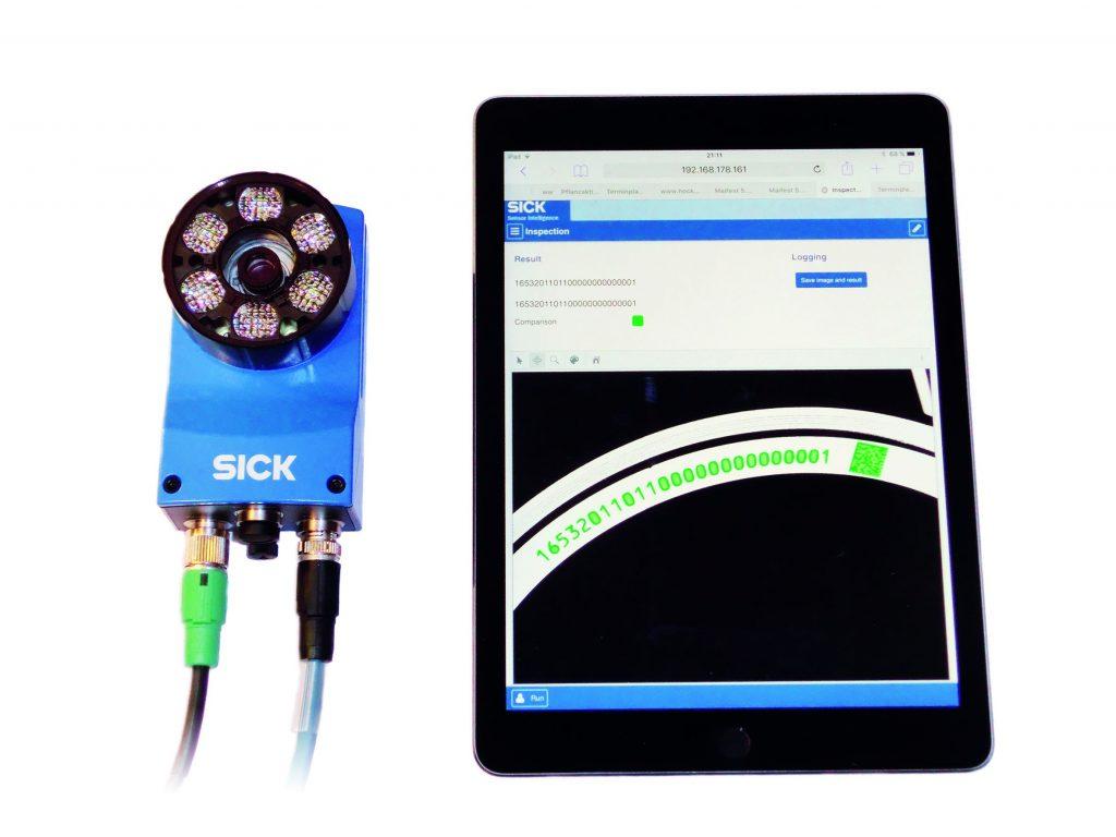 Laboraufbau der Kundenapplikation: Die App l?uft live auf einem InspectorP63x mit gespeicherten er. Die Bedienung erfolgt ?ber einen WLAN-Router von einem Tablet. (Bild: Visioning)