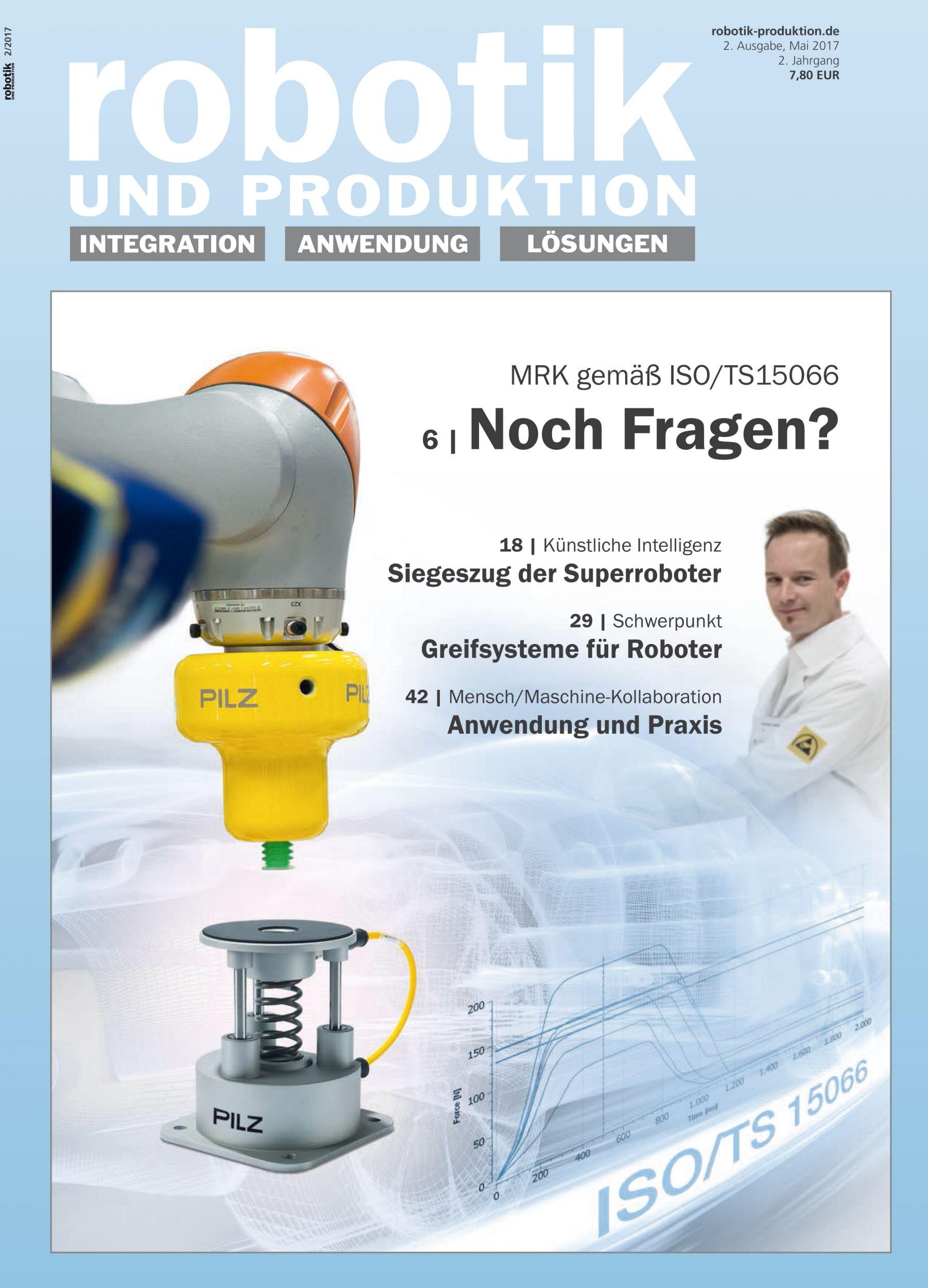 Mai Ausgabe der Robotik und Produktion online