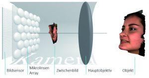 Funktionsweise einer 3D-Lichtfeldkamera (Bild: Raytrix GmbH)