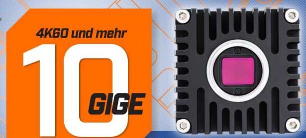 10GigE-Kamera mit 4K und 60fps