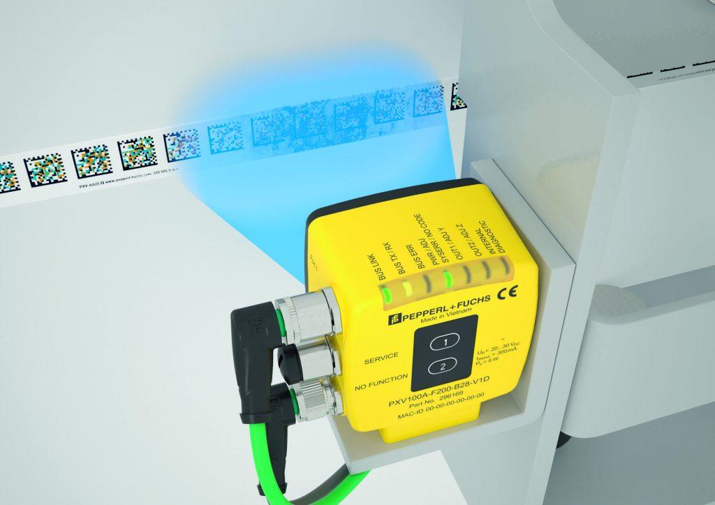 Das Codeband darf bis zu einer Strecke von 80mm unterbrochen sein, ohne dass die Positionserfassung darunter leidet. (Bild: Pepperl+Fuchs GmbH)