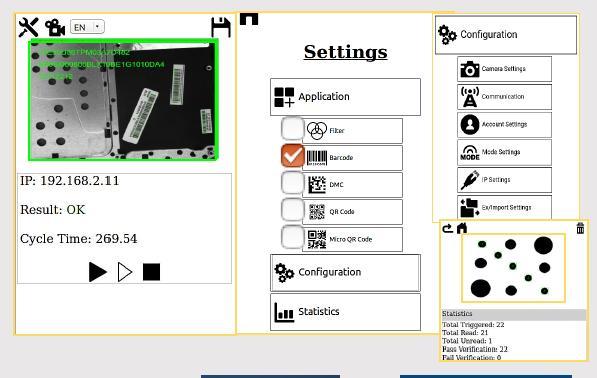 Smart Kamera mit WebApp-Software
