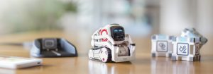 Anki´s Cozmo robot is a cute little social, interactive robot toy. To achieve meaningful social interactivity, it requires computer vision capabilities such as face recognition. (Figure: Anki Inc.)