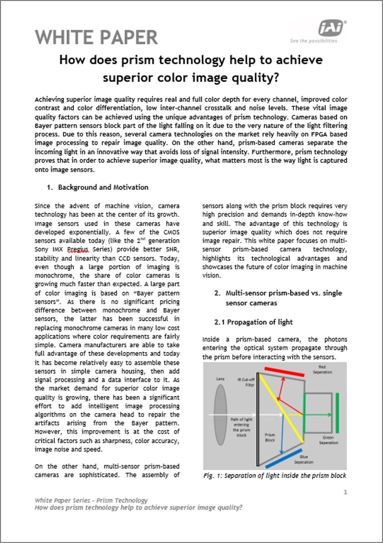 Whitepaper: Prismatechnologie für überragende Farbildqualität