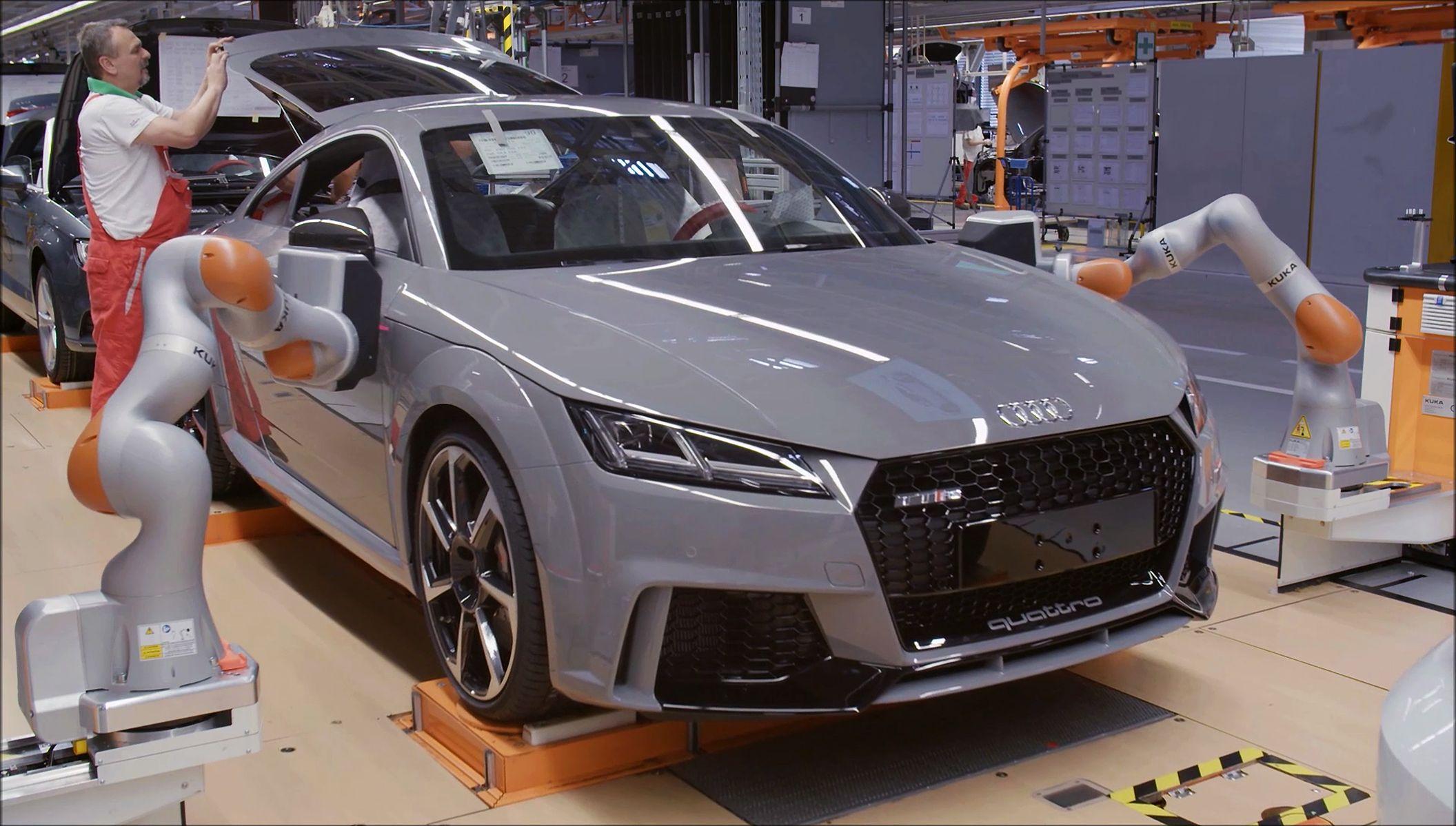 Profilverlaufmessung von Fugen und Kanten beim Audi TT