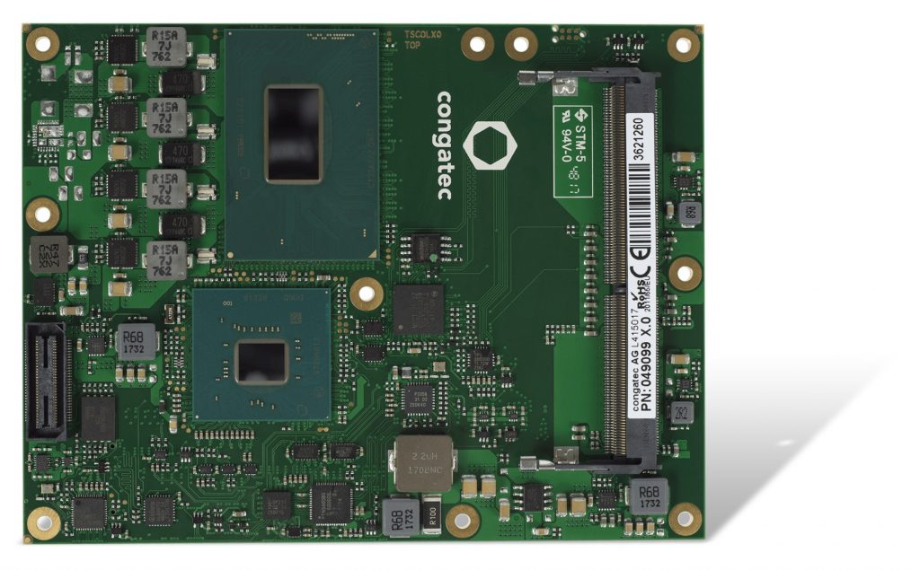 Mit insgesamt 16 PCIe Gen 3.0 Lanes ist das conga-TS370 Computer-on-Module ideal für KI- und Machine-Learning-Applikationen, die mehrere GPUs für die parallele Datenverarbeitung benötigen. (Bild: Congatec AG)