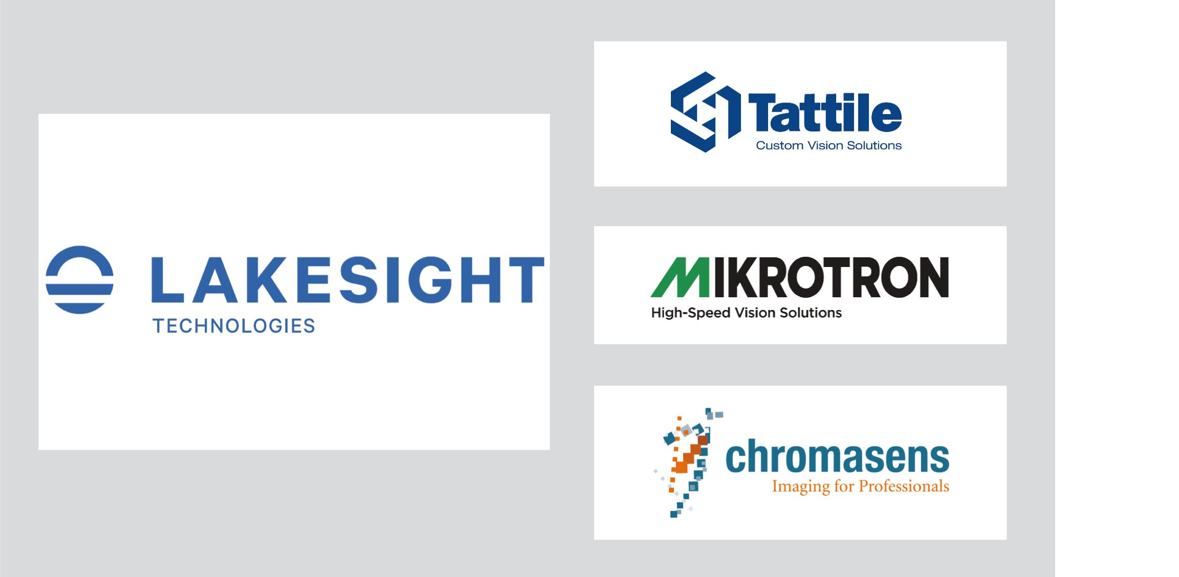 (Bilder: Lakesight Technologies Holding GmbH, Chromasens GmbH, Mikrotron GmbH, Tattile s.r.l.)