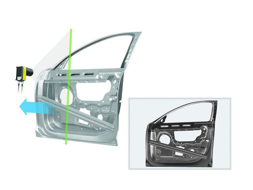 Zeilenkameras ermöglichen die Inspektion durch enge Sichtfenster sowie die (kosten-)effiziente Inspektion großer Teilen. (Bild: Cognex Germany Inc.)