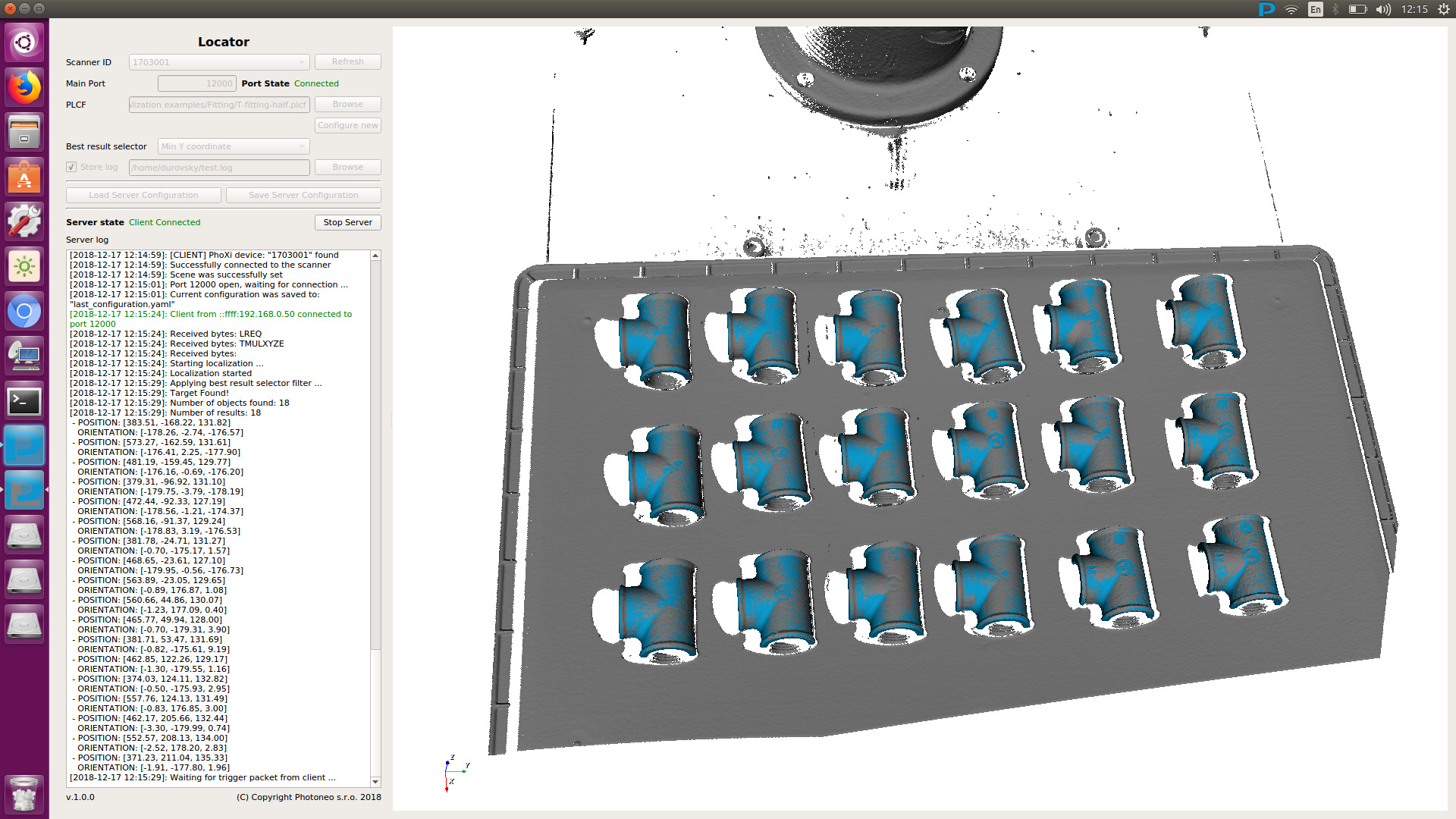 Image 1   Locator is a powerful tool which can pick non-overlapping objects of various sizes and shapes, and was specifically developed for accurate and fast picking in environments containing fewer obstacles. (Bild: Photoneo)
