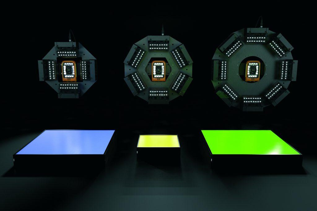 Das Beleuchtungsportfolio von B&R ermöglicht bis zu vier Lichtfarben pro Leuchte. Speziell entwickelte Linsen sorgen für eine homogene Ausleuchtung. Durch die extrem kurze Blitzdauer können die LEDs mit bis zu 300 Prozent des Nennstroms betrieben werden. (Bild: B&R Industrie-Elektronik GmbH)