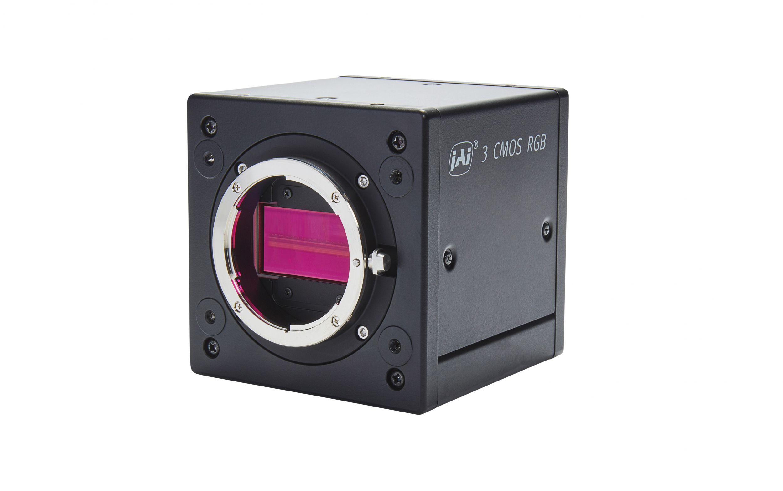 Die Verbindung von prismabasiertem Line-Scan und 10GBase-T-Schnittstelle macht die SW-4000T-10GE zur schnellsten prismabasierten Zeilenkamera der Welt. Sie hat eine Auflösung von 4.096 Pixeln/Kanal und Geschwindigkeiten von über 100kHz. (Bild: JAI A/S)
