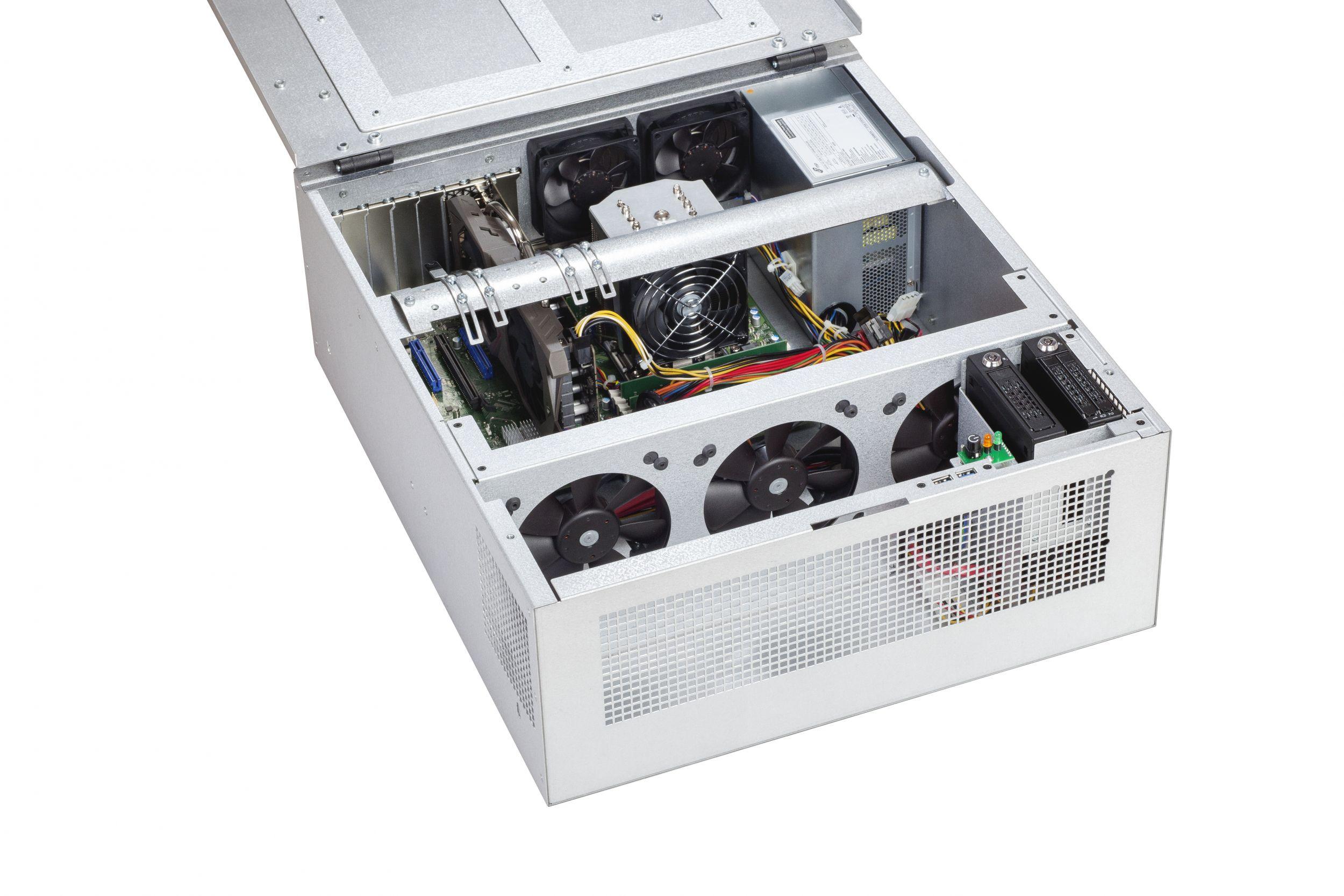 Die integrierte Nvidia-Grafikkarte GeForce GTX 1070 mit 8GB kombiniert mit zwei Intel Xeon Silver-Prozessoren der CPU sind die Basis für rechenintensive Bildverarbeitungsprozesse. (Bild: BEG Bürkle GmbH & Co. KG)