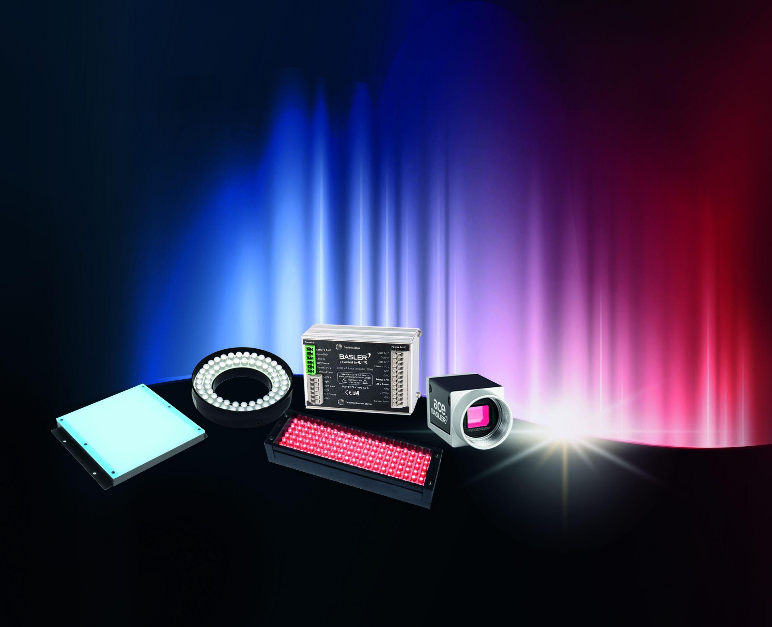 Das neue SLP-Feature ermöglicht die direkte Kommunikation zwischen Kamera und Beleuchtung, basierend auf einem von Basler entwickelten Protokoll. (Bild: Basler AG)