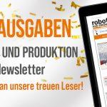 ROBOTIK UND PRODUKTION Newsletter feiert Jubiläum