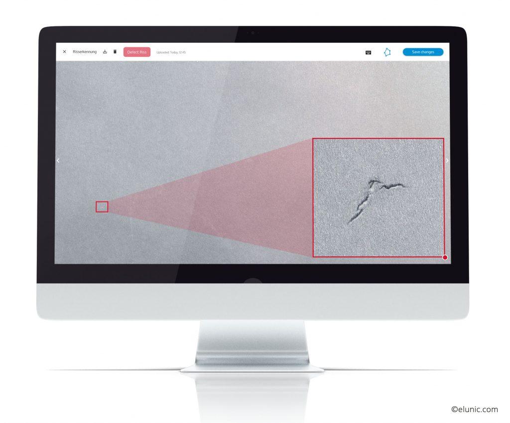 Für die Installation der KI-Software AI.See stehen Anwender-spezifische Komplettpakete mit Kamera, Beleuchtung und IPC zur Verfügung. Die Lernphase des KI-Systems erfolgt im laufenden Betrieb. (Bild: Elunic AG)