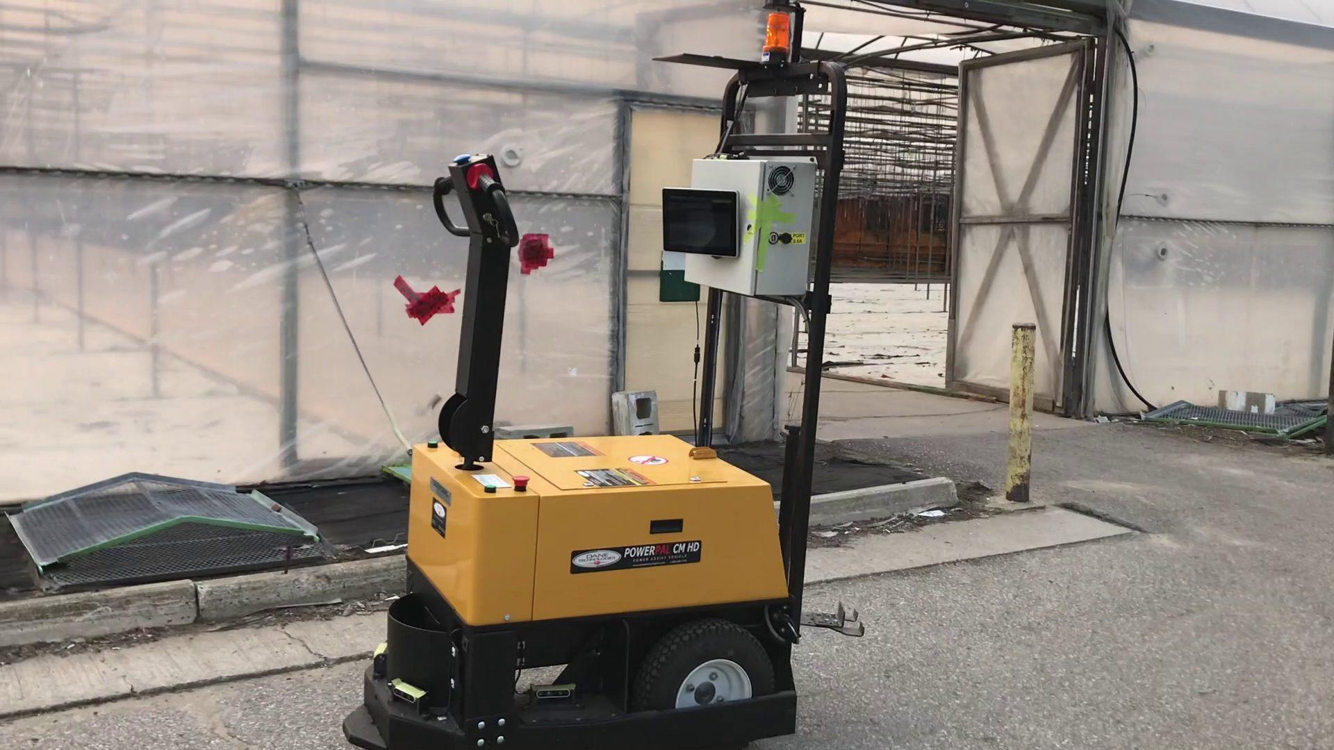 Autonomes Fahren mit Tiefenkameras in Treibhäusern
