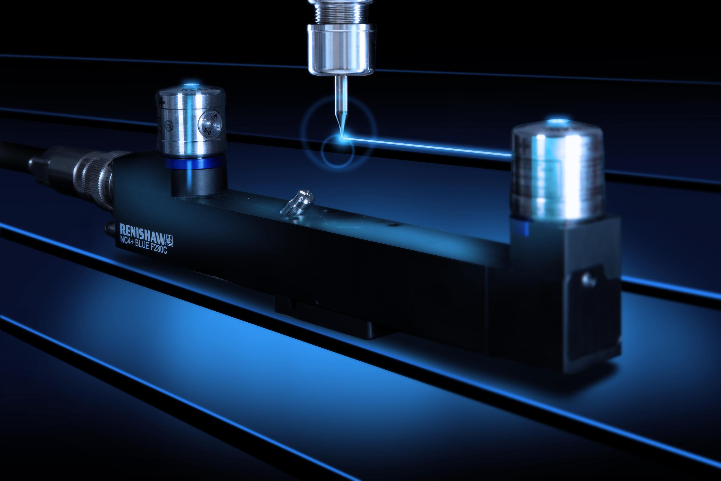 Blaue Laser für berührungsloses Werkzeugkontrollsystem