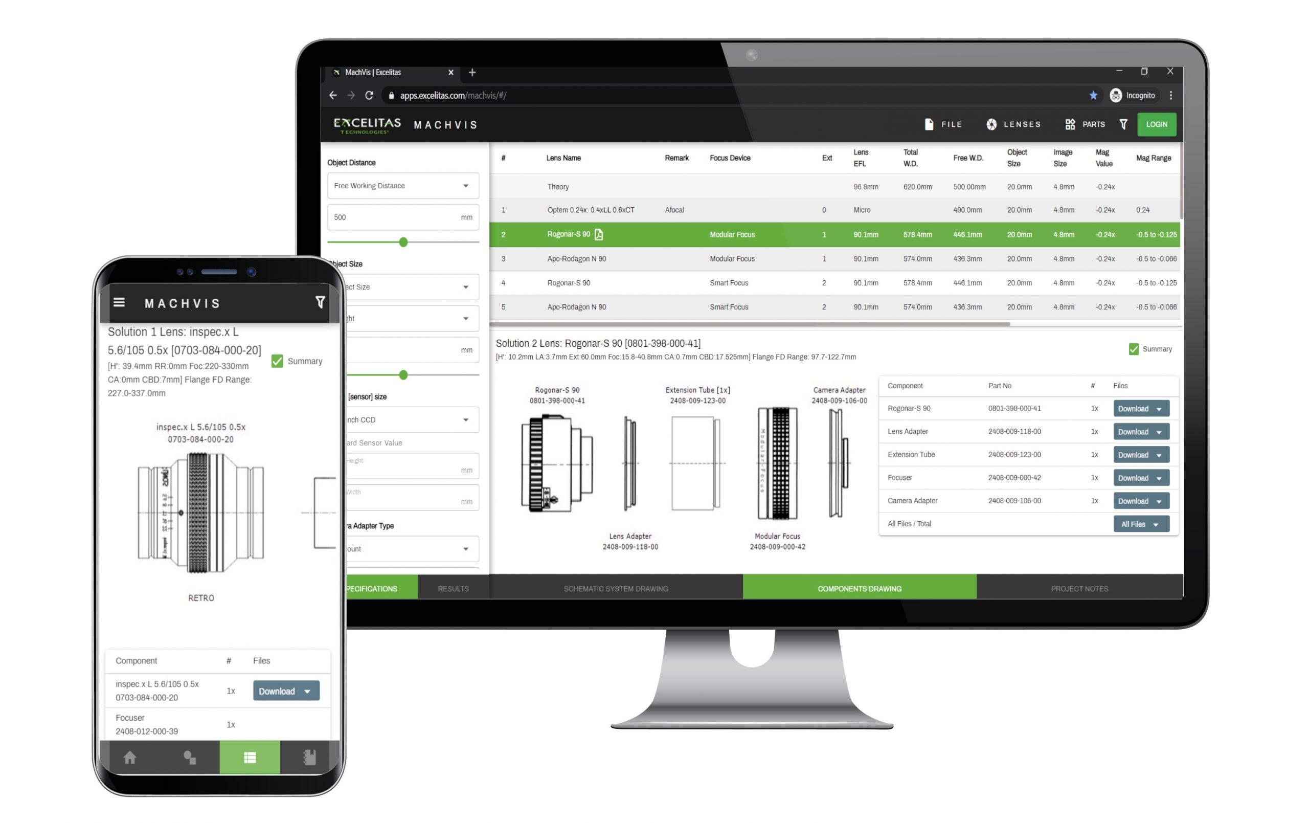 Objektivkonfigurator als Web-App