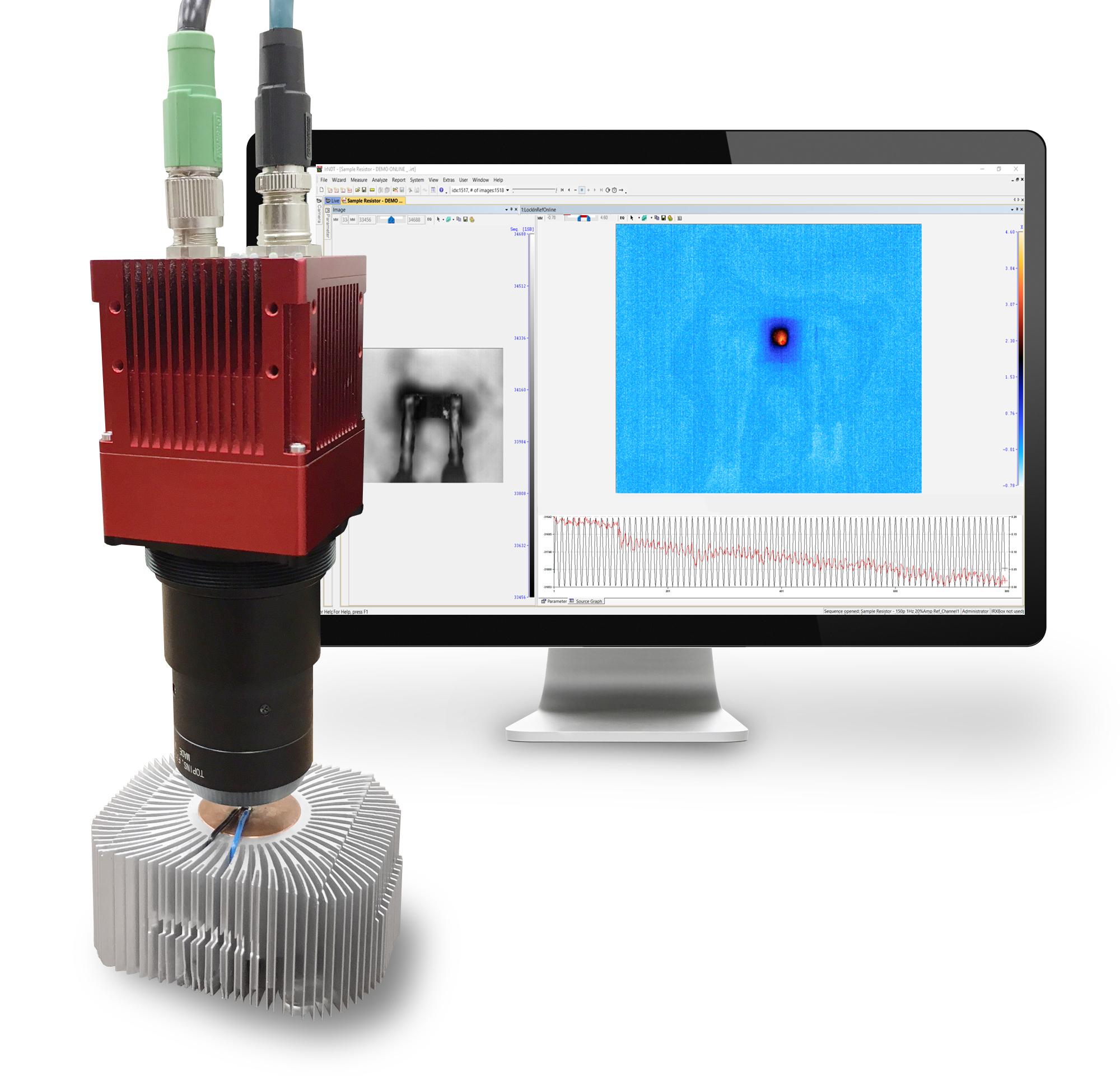Wärmekamera mit Mikroskopoptik