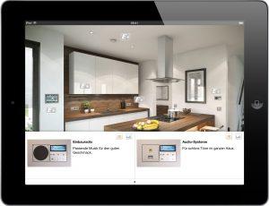 Beim gemeinsamen virtuellen Streifzug durch ein Einfamilienhaus werden elektrotechnische Produkte und Lösungen für jeden Raum angezeigt. Neben den gezielten Wünschen werden den Bauherren auf diese Weise zusätzliche Ideen gegeben. (Bild: Deha Gruppe)