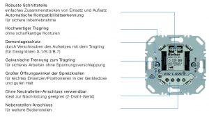 Die neuen Berker UP-Einsätze bieten viele Konstruktionsvorteile, die der Elektrotechniker beim Einbau schätzen lernt. (Bild: Berker GmbH & Co. KG)