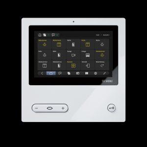 Der Touchscreen des Comfort-Panels mit dem Startschirm der Menüfunktionen (Bild: S. Siedle & Söhne)