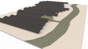 Freiflächenanlagen sind mit DDS-CAD PV ebenso projektierbar wie Anlagen in Aufdach-, Indach- oder Fassa-denmontage. (Bild: Data Design system GmbH)